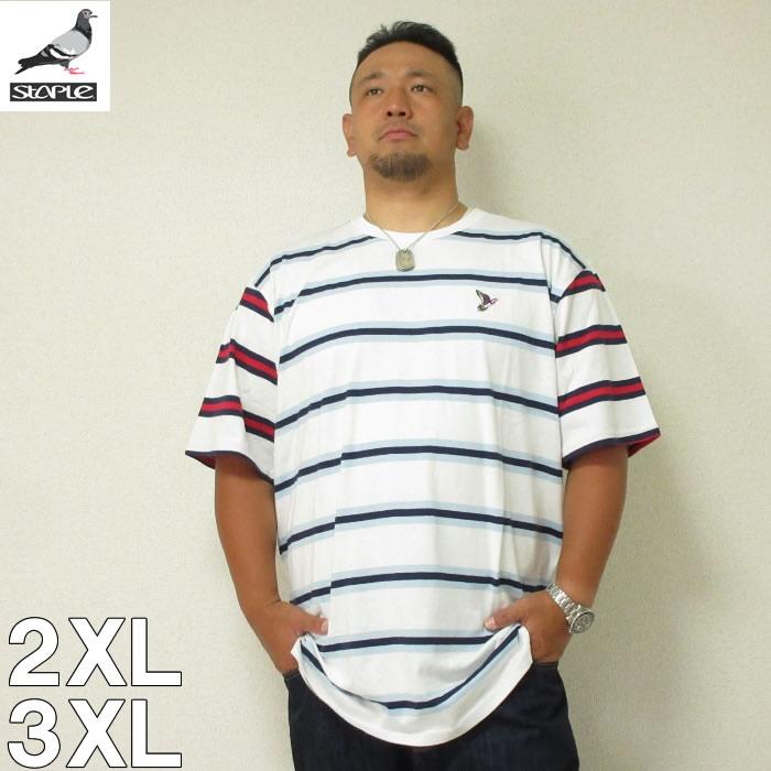 (8/31まで特別送料)STAPLE(ステイプル)ABSTRACT STRIPED 半袖 Tシャツ 2XL 3XL
