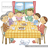 Makunouchi 162 Family Illustrations