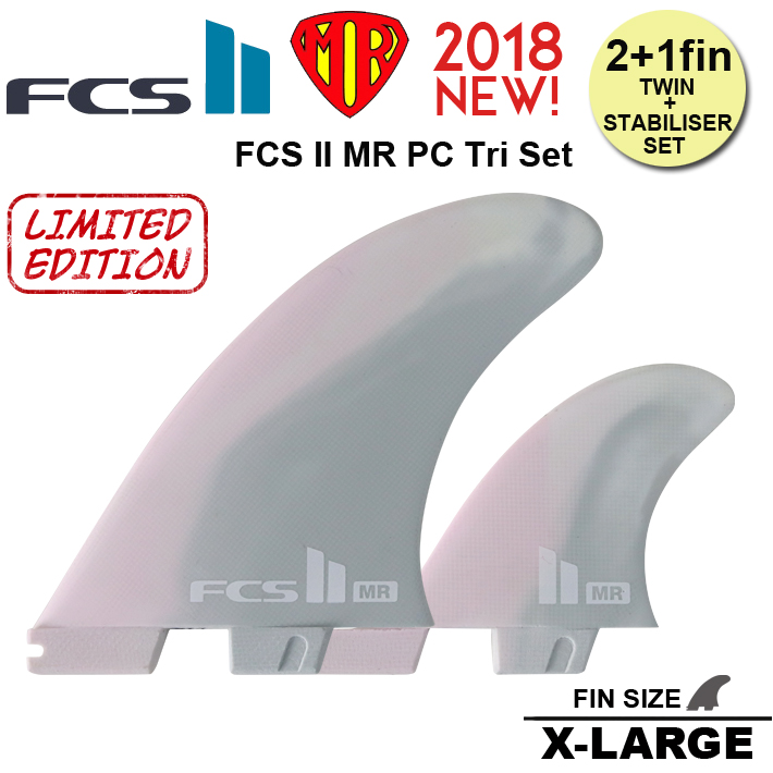 FCS2 フィン MR PC Tri Set  MR's twin + stabiliser template  MINI TWIN・THE TWINに最適![fcs2-fin108]
