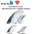 FCS2 フィン MR PC Tri Set  MR's twin + stabiliser template  MINI TWIN・THE TWINに最適![fcs2-fin060]