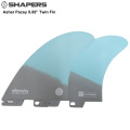 "【SHAPERS FIN】Asher Pacey: 5.5""Grey and Light Blue Fibreglaイss Twin Fin  S2 BASE  アッシャー・ペイシーツンフィン 送料無料 FCS2対応[shapers-fin181228-06]"