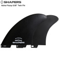 "【SHAPERS FIN】Asher Pacey: 5.55"" Black Fibreglass Twin Fin  S2 BASE  アッシャー・ペイシーツンフィン 送料無料 FCS2対応[shapers-fin181228-06]"
