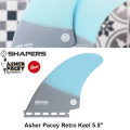 "【SHAPERS FIN】Asher Pacey: Retro Keel 5.5"" Grey and Light Blue FUTURE アッシャー・ペイシーツインフィン 2018NEW! 送料無料[shapers-fin106]"