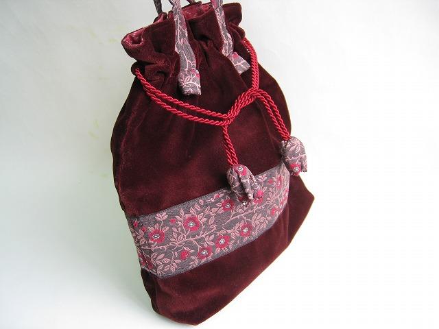 カフカリボン野ばら*ベルベットバッグ
