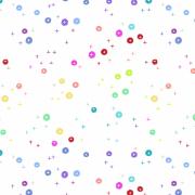 プリントコットン*Rainbow Buttons