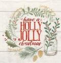 5枚組ペーパーナプキン*Holly Jolly