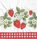 5枚組ペーパーナプキン*Strawberries in Love