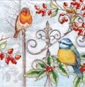 5枚組ペーパーナプキン*Birds & Holly