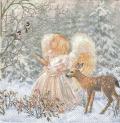 5枚組ペーパーナプキン*Winter Angel