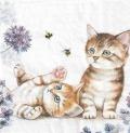 5枚組ペーパーナプキン*Cats and Bees
