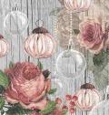5枚組ペーパーナプキン*Roses and Baubles