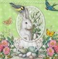 5枚組ペーパーナプキン*White Rabbit【B】