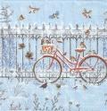 5枚組ペーパーナプキン*Snowy Bicycle