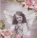 5枚組ペーパーナプキン*天使とバラ