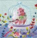 5枚組ペーパーナプキン*Cupcake in Glass