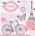 5枚組ペーパーナプキン*パリの自転車【B】