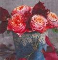5枚組ペーパーナプキン*秋のバラ