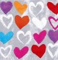 5枚組ペーパーナプキン*Paper Hearts
