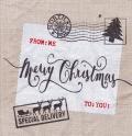 5枚組ペーパーナプキン*クリスマスポスト