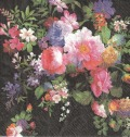 5枚組ペーパーナプキン*Roses on Velvet