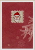 Rico刺繍キット*クリスマスカード【サンタ】