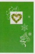Rico刺繍キット*クリスマスカード【ハート】