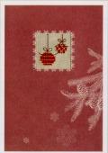 Rico刺繍キット*クリスマスカード【バウブル】