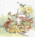 5枚組ペーパーナプキン*ウサギとジョウロ