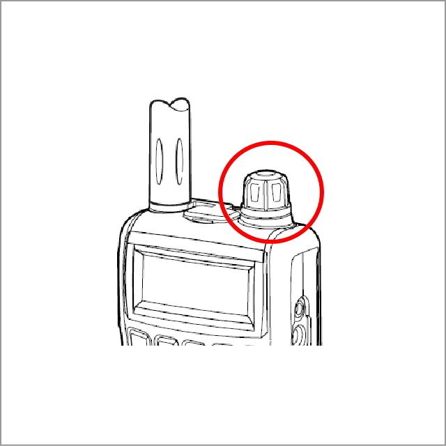 IC-R6用ダイヤルツマミ(KNOB N-284) (補修用)【ネコポス対応可】