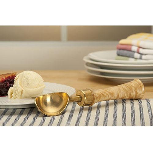 ウッドターニング アイスクリーム ・ スコップキット (ゴールド) 1セット 【00191】