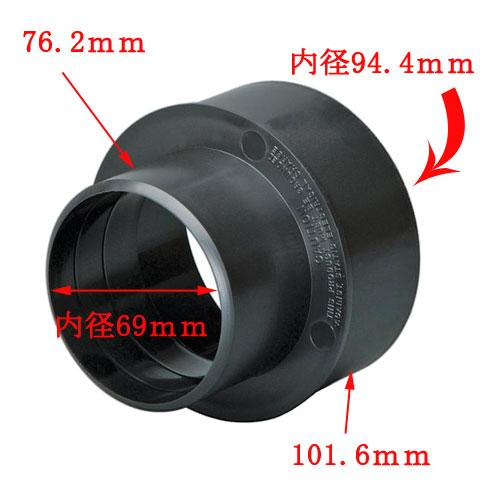 集塵用ジョイントアダプター101mmx76.2mm