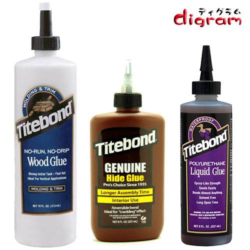 タイトボンド木工用接着剤N0ラン・NO&ウレタン&にかわ液体各1本3本組