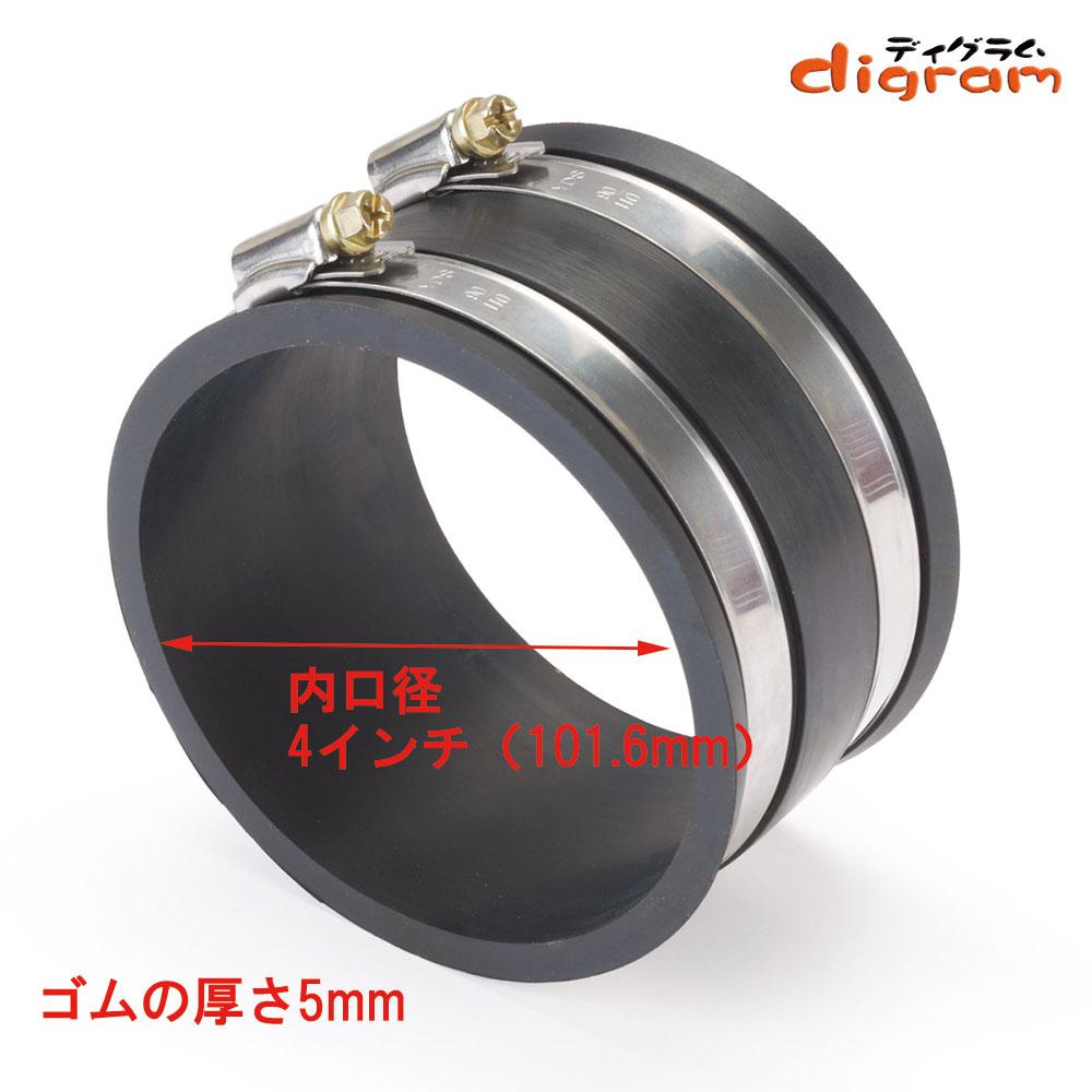 集塵用ゴムホースアダプター 口径101.4mm用