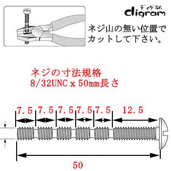 UNC8-32(呼び径)がNo8/長さ50mm
