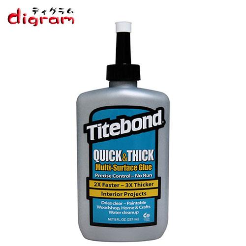 フランクリン タイトボンド クイック & シック 多用途接着剤 (8オンス)1本 【00464】