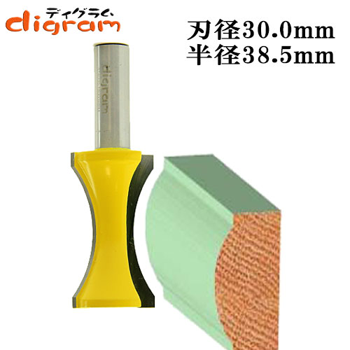 カーブエッジ・ビット 2/1(半径38.5mm)