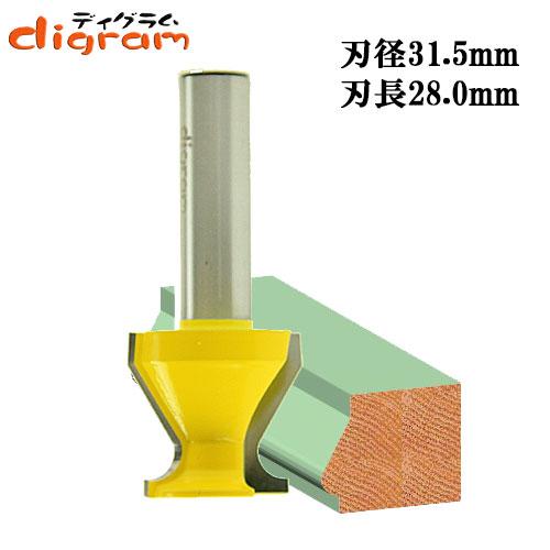 ルーター ビット ドアリップ スタンダード グリップ 1/2軸 Microtungsten carbide 【dm03001】
