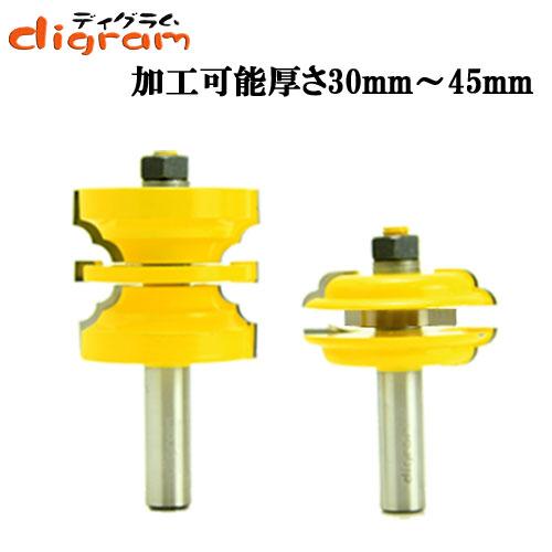 ルーター ビット エントリー & ドア カッターシステム セット 1/2軸 ( ダブルビート ) Microtungsten carbide 【dm04004】