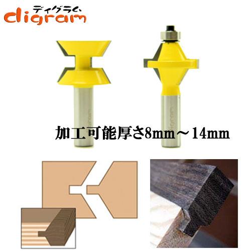 ルーター ビット フェイス タン & グルーブヴェッジ 1/2軸 Microtungsten carbide 【dm05102】