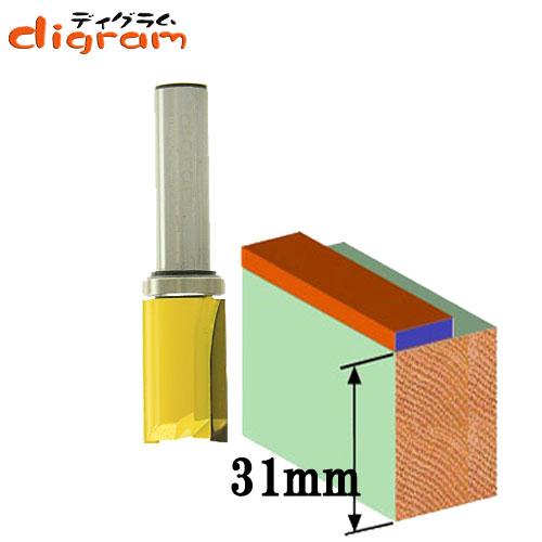 ルーター ビット トップベアリング パターンビット ショート 1/2軸 ( 刃径 19mm ) Microtungsten carbide 【dm09413】