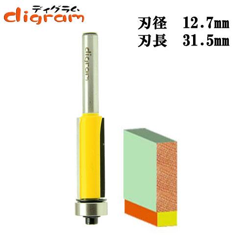 トリマー ビット フラッシュトリム 1/4軸 ( 刃径 12.7mm ) Microtungsten carbide 【dm12502】