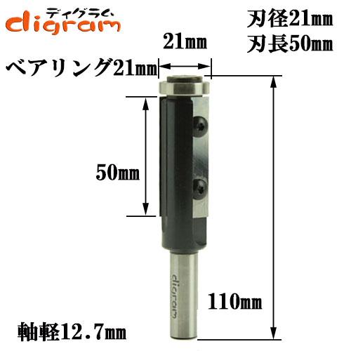 替刃式・フラッシュトリム・ビット(刃径21mm)