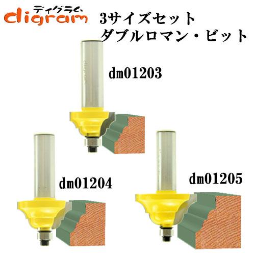 ダブルロマン3組セットMicrotungsten carbide