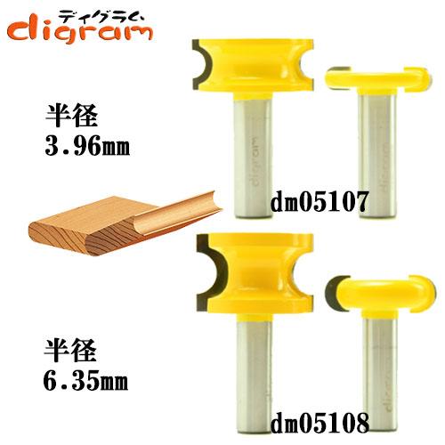 ルーター ビット フルート & ビート 2組 セット 1/2軸 Microtungsten carbide 【dms05101】