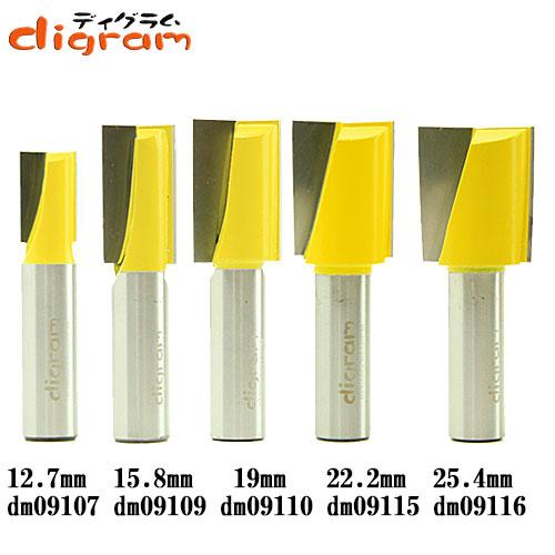ルーター ビット ブランジ ストレート 5組 セット 1/2軸 Microtungsten carbide 【dms09104】