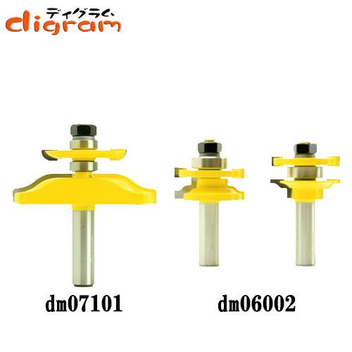 ルーター ビット ドアパネル バックカッター付 3点 セット ( オージー ) 1/2軸 Microtungsten carbide 【dms15003】