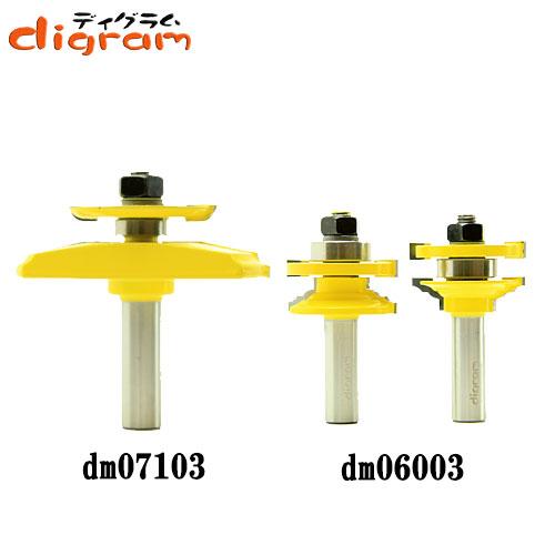 ルーター ビット ドアパネル バックカッター付 3点 セット ( ビーズネイル ) 1/2軸 Microtungsten carbide 【dms15005】