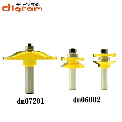 ルーター ビット ドアパネル 3点 セット ( オージー ) 1/2軸 Microtungsten carbide 【dms15007】