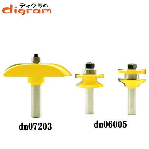 ルーター ビット ドアパネル 3点 セット ( カーブ ) 1/2軸 Microtungsten carbide 【dms15009】