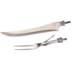 ウッドターニング バーベキュー ・ ナイフ & フォークキット 1セット 【00195】